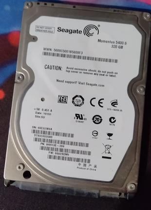 Вінчестер Seagate 320GB для ноутбука