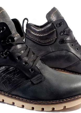 Качественные в стиле Levis Зимние мужские ботинки смотрятся дорог