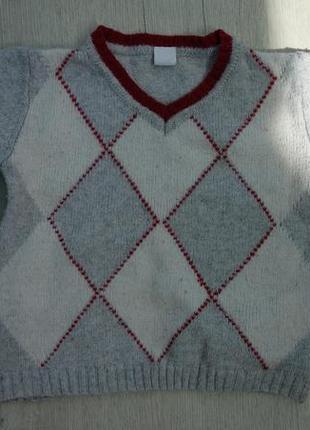 Фирменный хлопковый детский свитер