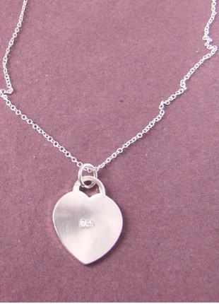 🏵 подвеска-кулон на цепи сердце в серебре 925, новый! арт. 2218