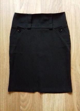 Черная юбка -миди