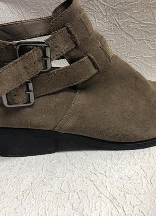 Замшевые ботинки topshop