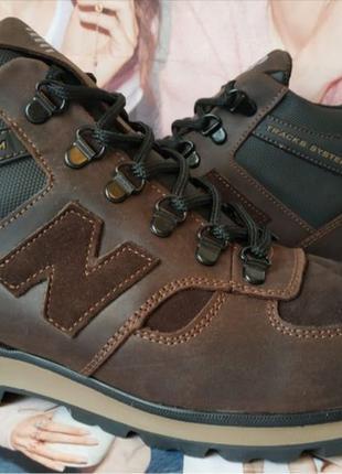Мужские зимние кожаные спортивные ботинки New Balance Winter чёрн