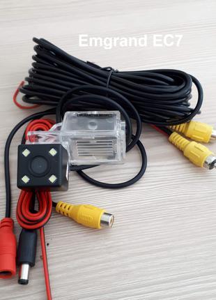 Камера заднего вида Emgrand 7, 7RV, 8, X7 с LED подсветкой