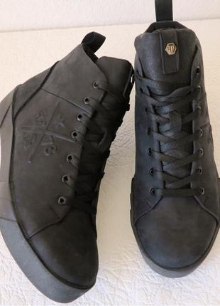 Super! Зимние мужские ботинки на шнуровке в стиле Philipp Plein н