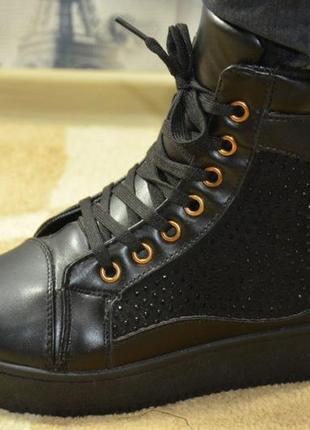 ♥ модные зимние ботинки - эко-кожа - удобно-стильно-тепло - 36...