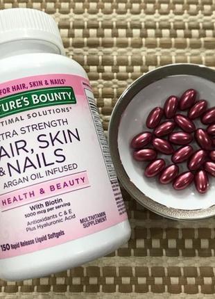 Комплекс с биотином для кожи, волос и ногтей, Nature´s Bounty