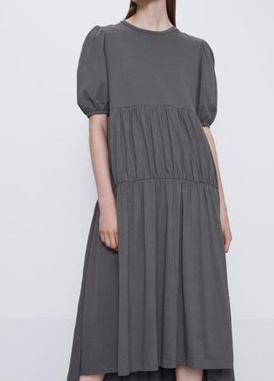 Платье с воланами zara