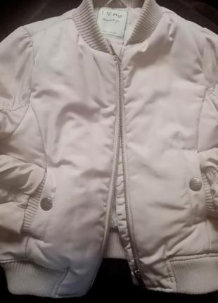 Деми куртка бомбер с вышивкой next 3-4 года