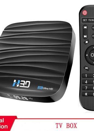 Новинка TV Box H30 4+32Гб Android 10.0 4-Ядерный