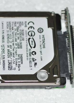 Переходник 2.5 IDE 44 pin - SATA 2.5 в нотбуки до 2005 годов
