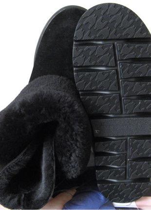В стиле Yves Saint Lauren женские теплые зимние сапоги угги натур