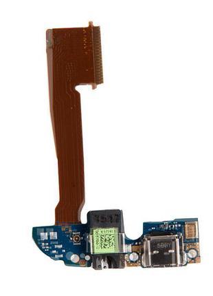 Шлейф для HTC One M8 /M8s, с разъемом зарядки, с разъемом наушник