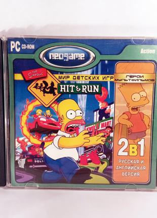 Распродажа! The Simpsons: Hit & Run Русская и английская версия