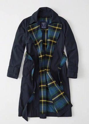 Демисезонное пальто/тренч abercrombie & fitch