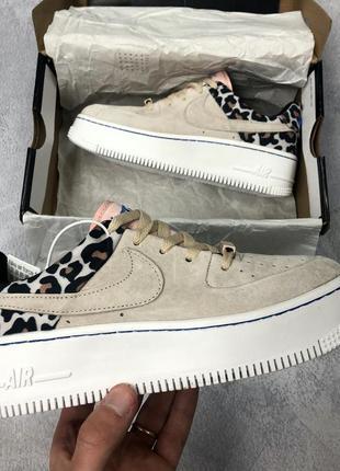 Nike air force 1 low leopard женские кроссовки найк
