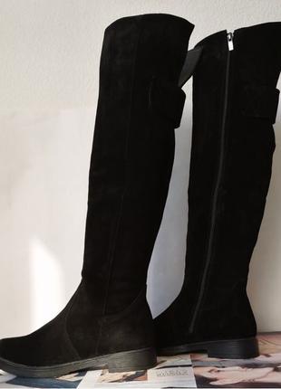 Fabiani style! Женские замшевые ботфорты зимние высокие сапоги с