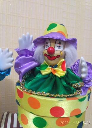 Механическая музыкальная шкатулка клоун игрушка конфетница