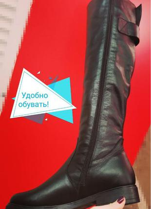 Fabiani style! Женские кожаные ботфорты зимние высокие сапоги , м