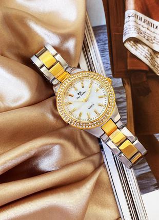Оригинальные женские наручные часы Bee Sister 1258 Gold-Silver-Wh