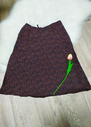 Лёгкая летняя юбка клеш до колена по колено
