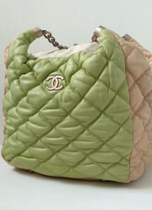 Вместительная сумка chanel, стеганая натуральная кожа, made in...