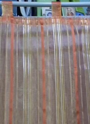 Тюль на петлях на узкое окно