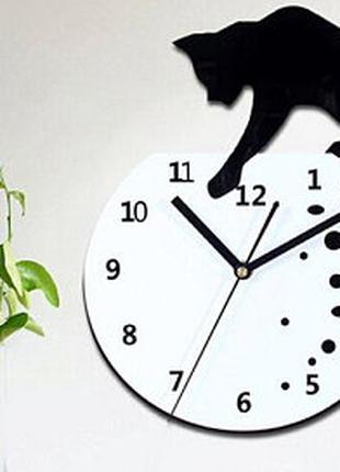 """Часы настенные """"Кошка и аквариум"""",подарки"""