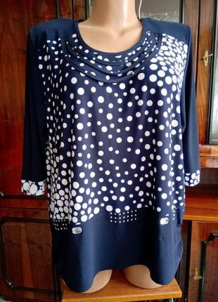 Блузка нарядная р.56+