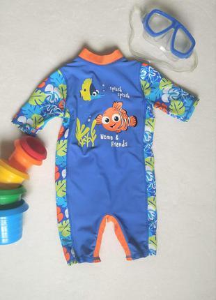 Детский солнцезащитный комбинезон для плавания,на малыша 9-12 ...