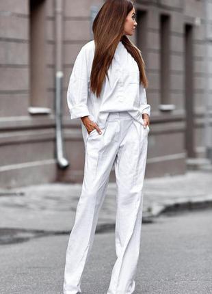 Костюм лляной рубашка + брюки