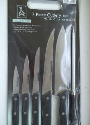 Хороший набор ножей+заточка+дощечка(5+1+1)