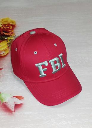 Кепка, бейсболка fbi красная 52-54 см