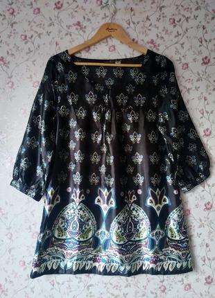 Атласная интересная блуза