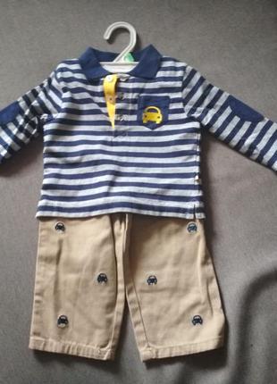 Комплект костюм мальчику – реглан и штанишки little me, сша, м...