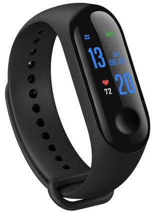 Фитнес-браслет М3 с пульсометром , смарт браслет , умные часы , с