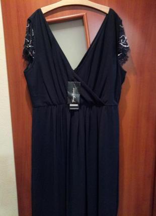 Шок цена😱😱😱шикарное дизайнерское вечернее платье большого разм...