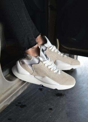 Шикарные женские кроссовки adidas y-3 kaiwa chunky в бежевом ц...