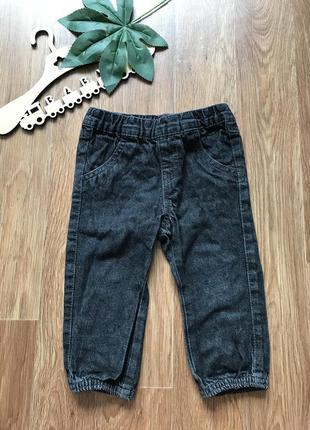 Крутые джинсы штаны джоггеры kiabi 18 мес