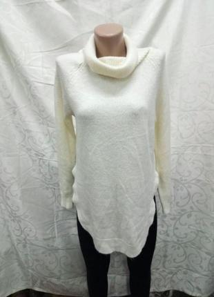 Шикарный удлинненый свитер теплый и уютный