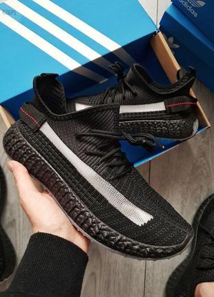 👟кроссовки реплика adidas yeezy black / наложенный платёж👟