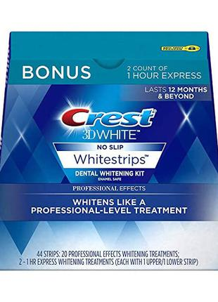 Отбеливающие полоски Crest 3D White Whitestrips, 44 шт