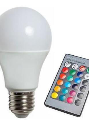Лампа 3W RGB с пультом E27
