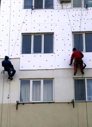 Утепление фасадов пенопластом, многоквартирных, частных домов итд