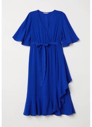 Платье для беременных миди на запах sale