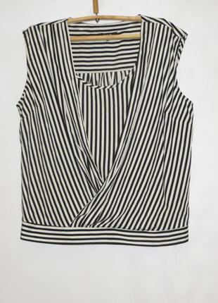 Блуза в вертикальную полоску р.22