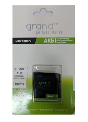 Аккумулятор GRAND Premium Nokia BP-6M (100%)