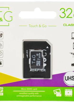 Карта памяти T&G Ultra microSD HC UHS-I 32GB Class 10 + SD-adapte