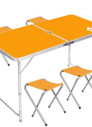Стол для пикника раскладной со 4 стульями Folding Table 120х60х55