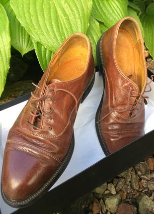 Коричневые кожаные туфли